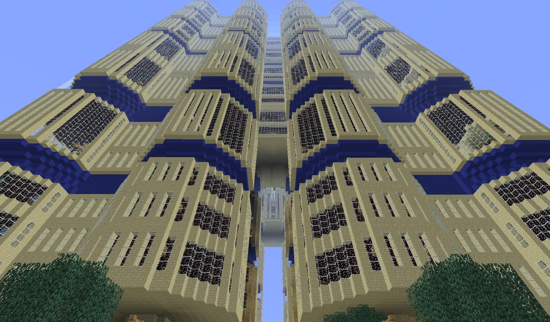 Minecraft Is Awesome 2013 A Giant Hotel In Minecraft