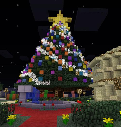 как сделать очень красивую новогоднюю ёлку в майнкрафте #5