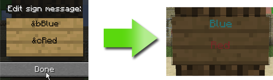 Formatted Signs   Empire Minecraft Wiki